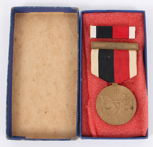 USN Navy Occupation medal with Asia clasps.