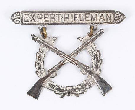 WWII USMC Marine Corps Expert Rifleman qualification badge
