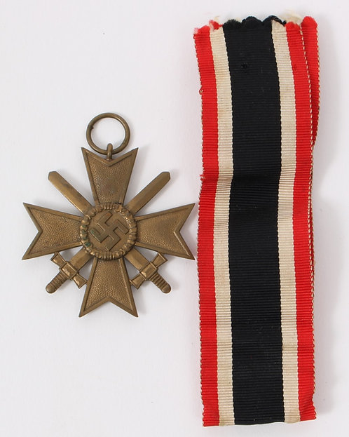 WWII German 1939 War Merit Cross 2nd Class w/ Swords Marker 74