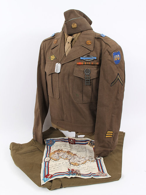 WWII 100th Infantry Division named uniform