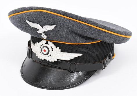 WWII German Luftwaffe Paratrooper EM / NCO dress hat stamped & maker marked