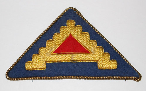 WWII ETO US 7th Army theater made bullion patch