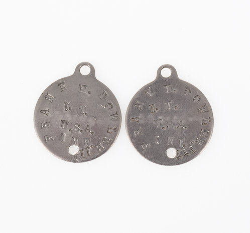 Pre WWII US Army Infantry Officer dogtags set