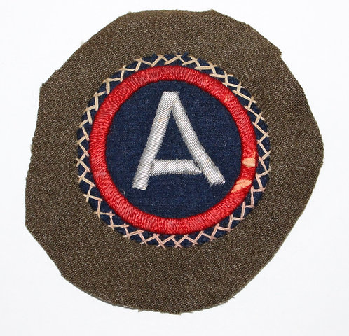 WWII ETO US 3rd Army theater made bullion patch