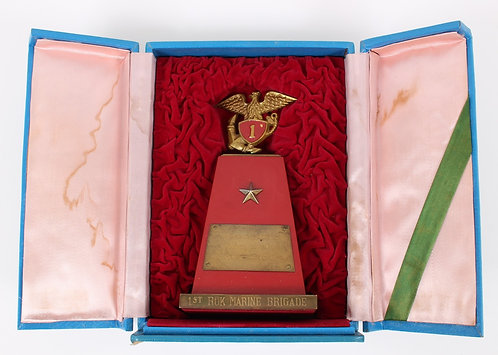Vietnam War USMC Officer 1st ROK tribute trophy plaque