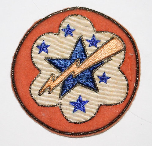 WWII ETO US West Pacific Army theater made bullion patch