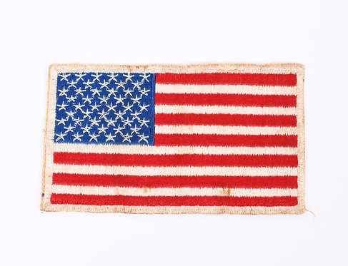 Korea War US Airborne American Flag shoulder patch 5 x 3