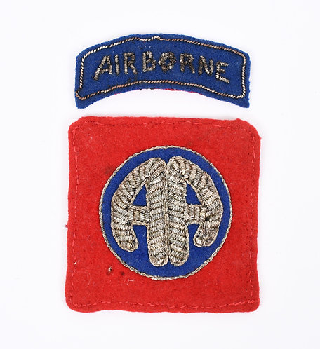 WWII 82nd Airborne Division Italian made bullion embroidered shoulder pa