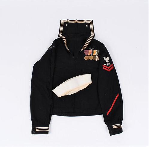 Vietnam War USN Naval Aircrew named uniform & full size medals