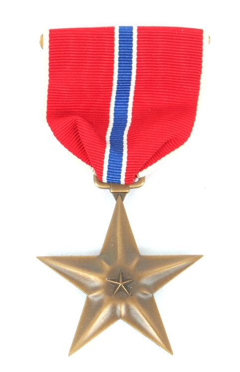 WWII US Armed Forces Bronze Star Medal unissued slot brooch