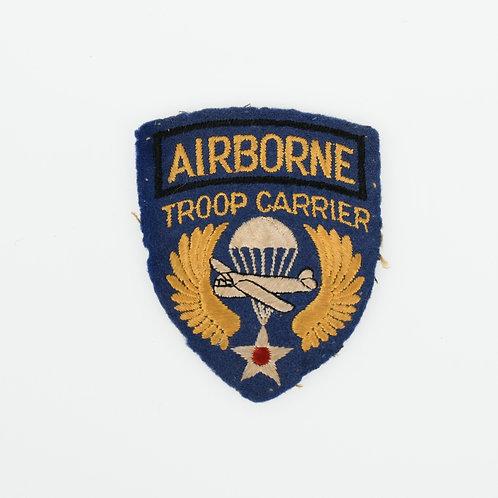 WWII US Airborne Troop Carrier shoulder patch cotton on felt