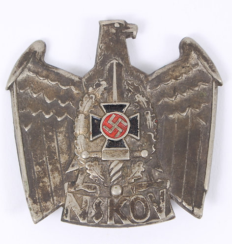 WWII German NSKOV cap badge