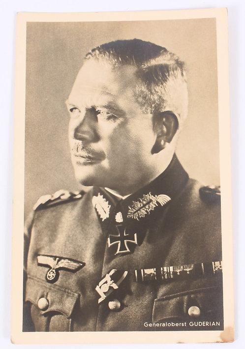 WWII German General Guderian photo postcard