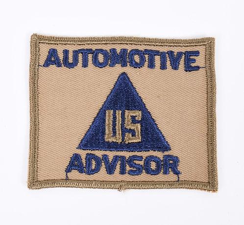 WWII US Automotive Advisor Non Combatant patch