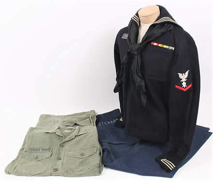 Vietnam War US Navy Seabees named uniform grouping w/ Dungaree
