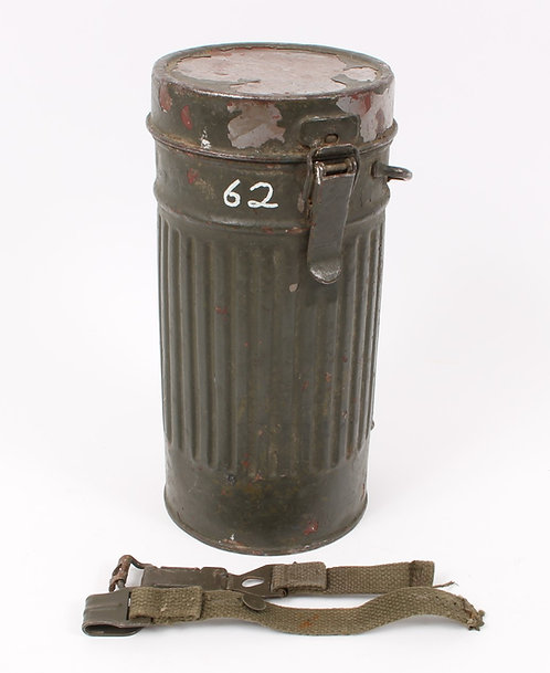 WWII German gas mask canister