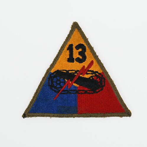 WWII 13th Armored Division shoulder patch
