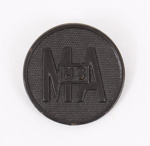 WWI - 1920's US MAHS collar disc insignia Main Avenue High School