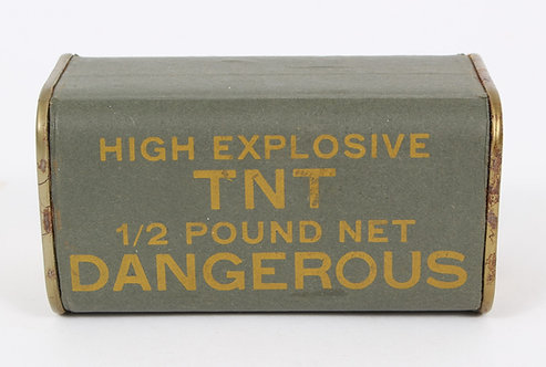 WWII Rare US Army OSS / Airborne 1/2 pound OD green TNT block INERT