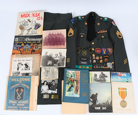 Vietnam War US Army named 196th Brigade uniform grouping