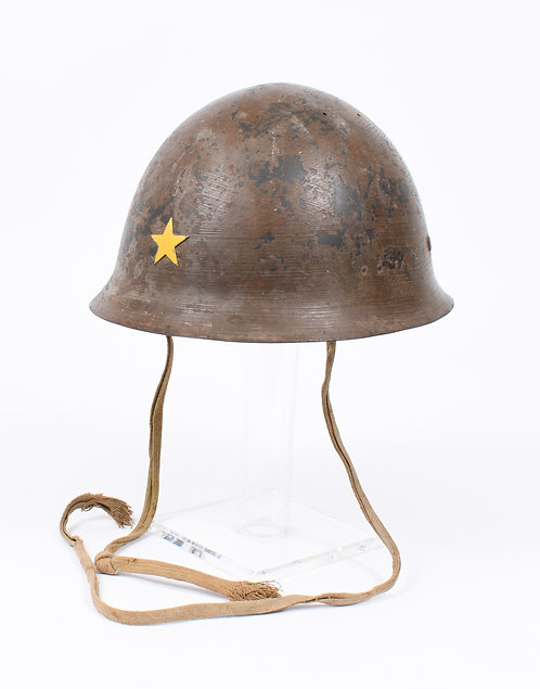 WWII Japanese Army Type 90 combat helmet with Kanji script