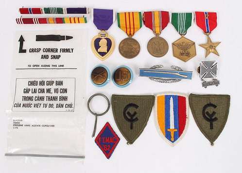 Vietnam War US Army Bronze Star / Purple Heart named medal grouping