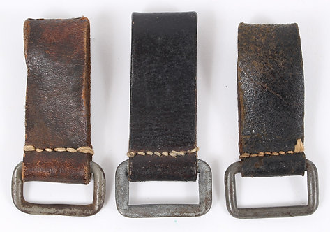 WWII German Officer D-ring belt loop strap lot of 3