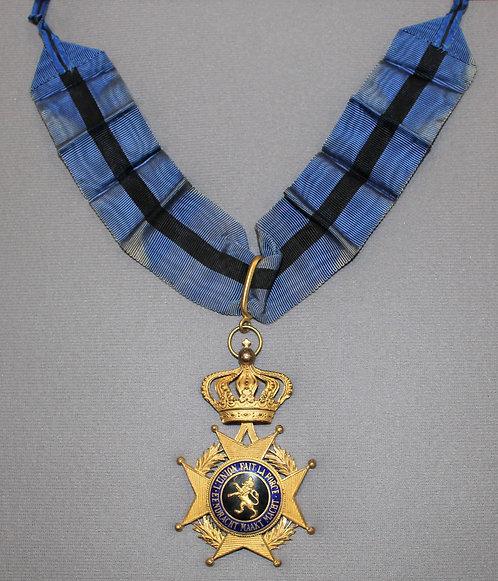 Belgium Order of Leopold II Commander neck Medal