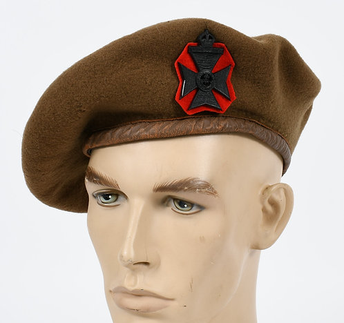 WWII BRITISH ARMY INFANTRY BERET DATED 1943