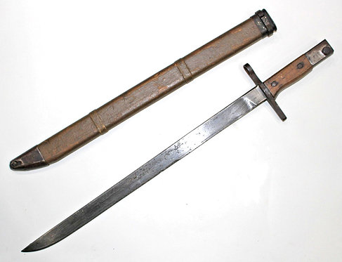 WWII late War Japanese Bayonet type 30 & wooden scabbard
