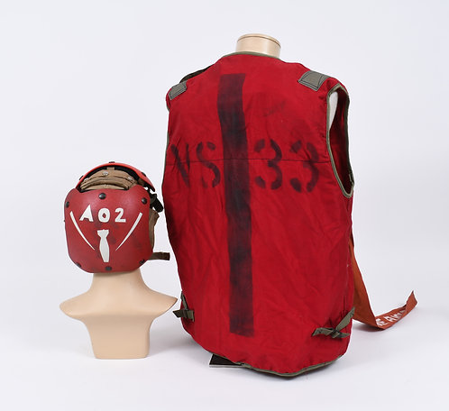 US Navy VS 33 Flight Deck Aircrew helmet & vest