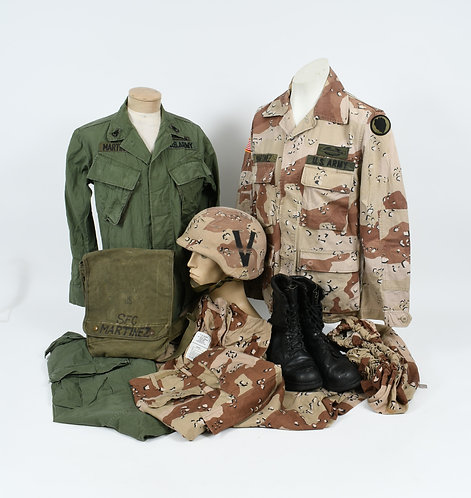Vietnam - Desert Storm US Army named uniform grouping