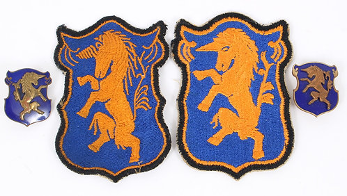 WWII US Army 6th Armored Cavalry patches & NS Meyer DUI crest insigni