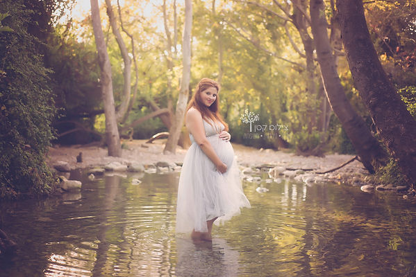 מה ללבוש לצילומי הריון בגליל - שמלת טול כסופה