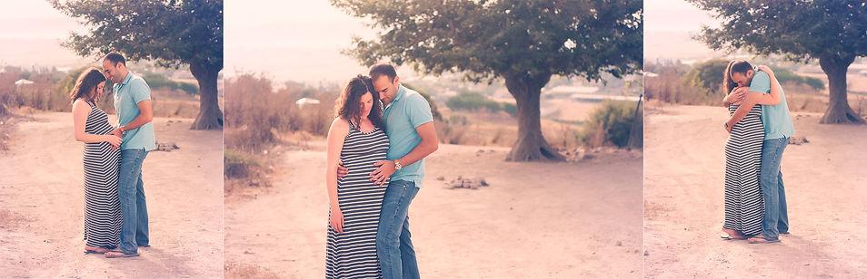 צילומי הריון בטבע בעמק יזרעאל