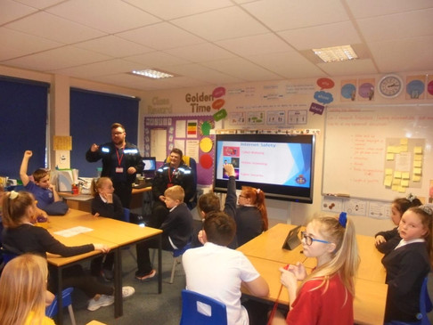 Police Community Support Officer visit in year 6