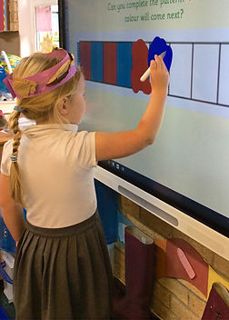 Pupil drawing on board