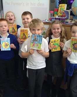 Pupils with books