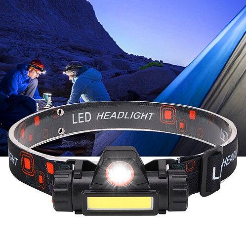 Portable Mini Flashlight Lantern Q5+COB Led Headlamp + 1