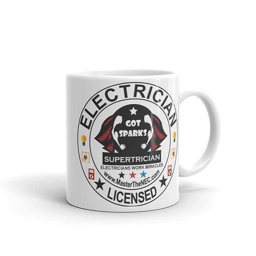 White glossy mug - Supertrician