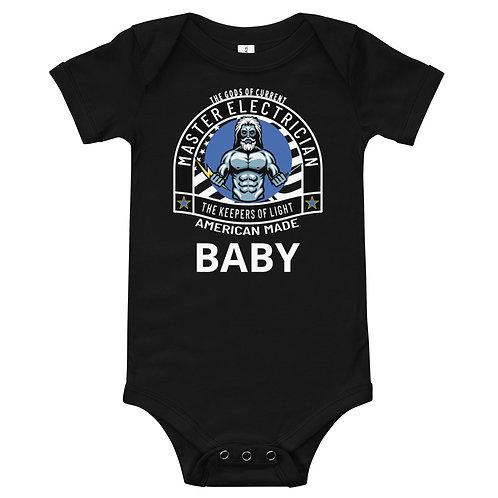 Baby short sleeve one piece   Gods of Current   Baby Onesie