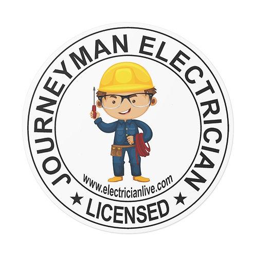 Outdoor Rated Vinyl Stickers   Journeyman Electrician