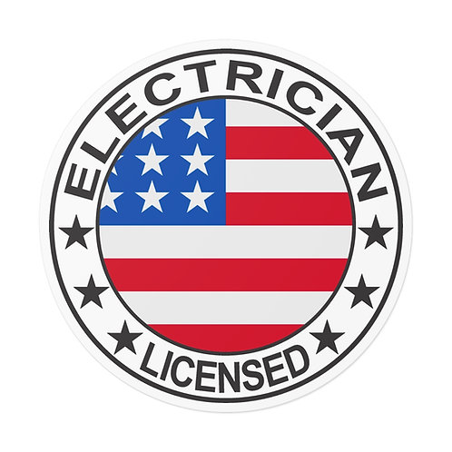 Outdoor Rated Vinyl Stickers   USA Electrician PRIDE