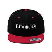 unisex-flat-bill-hat-electrician-pro-lif