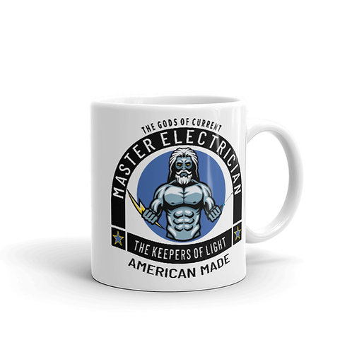 White glossy mug - Gods of Current    Master Electrician