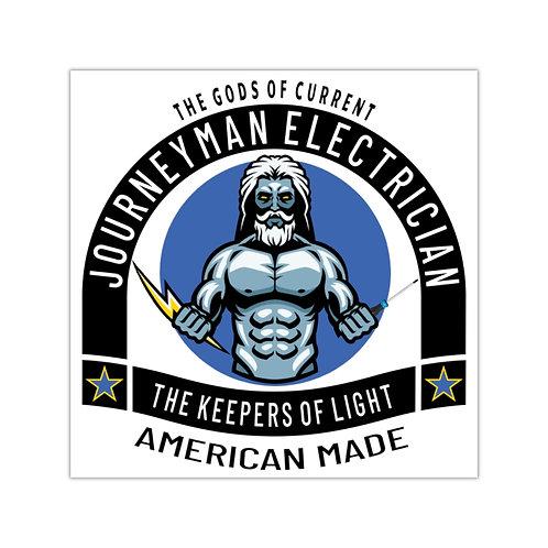 Outdoor Rated Vinyl Stickers   Gods of Current   Journeyman Electrician