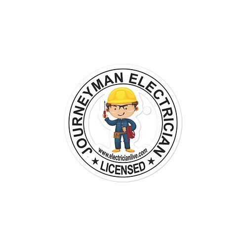 Bubble-free stickers   Journeyman Electrician