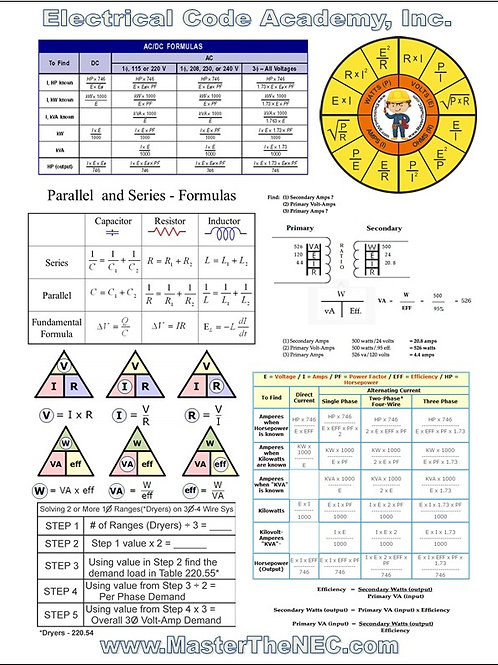 Free Electrical Formula Cheat Sheet
