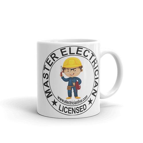White glossy mug - Master Electrician