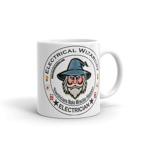 White glossy mug - Electrical Wizardry